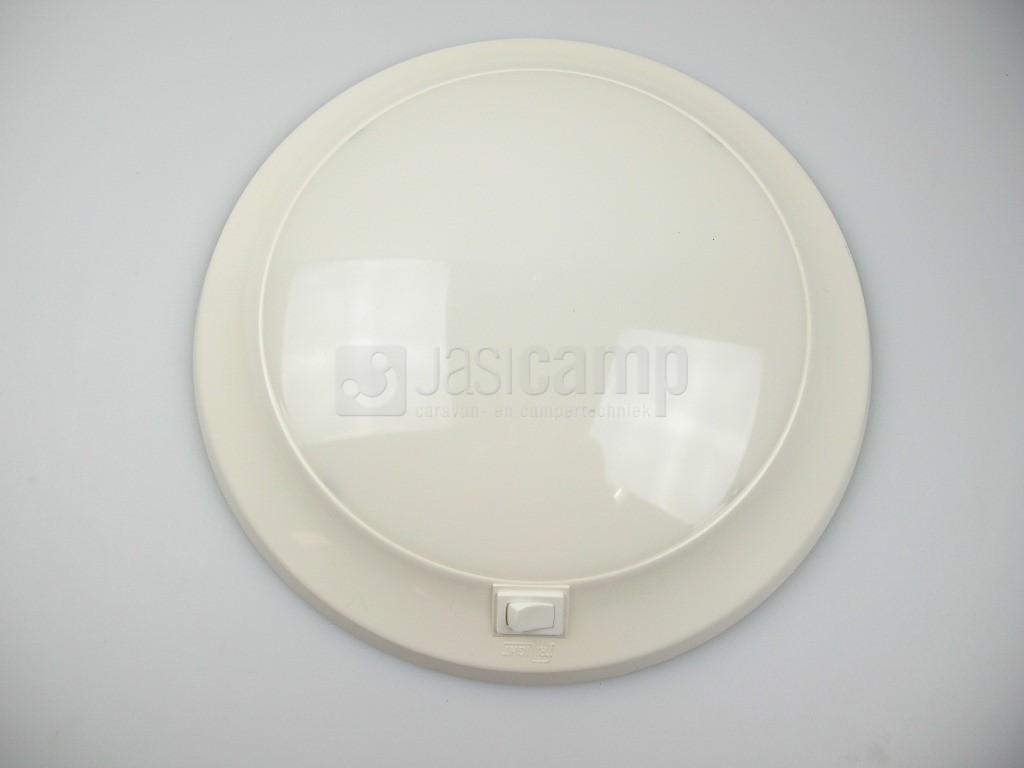 Plafoniere Per Van : Cirro plafoniere met schakelaar 12v 10w diameter 25cm kleur wit