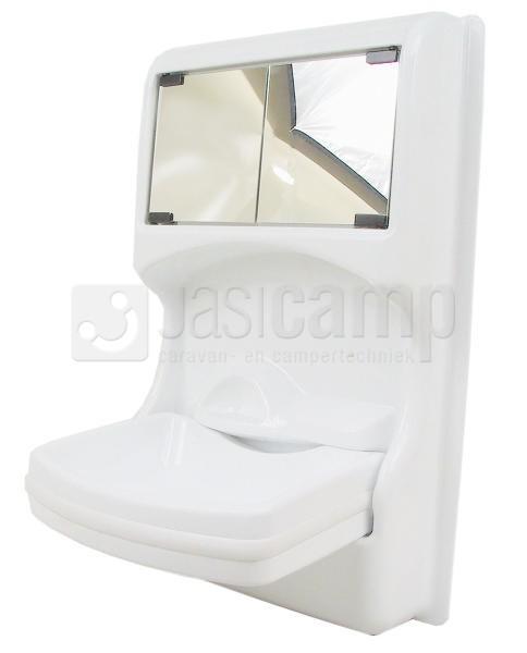 Wasbak Met Spiegel.Wasbak Antibes Opklapbaar Wit Met Spiegel Nr 642011
