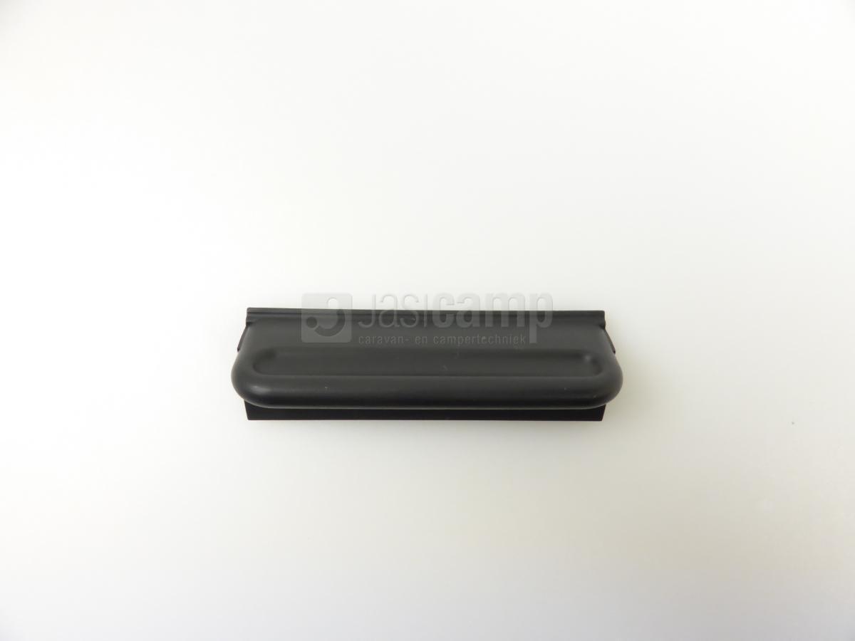 Greep front remis plisse gordijn i zwart
